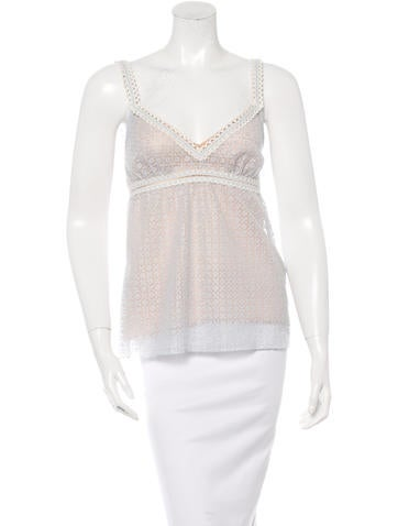 Chanel Sleeveless Crochet Top None
