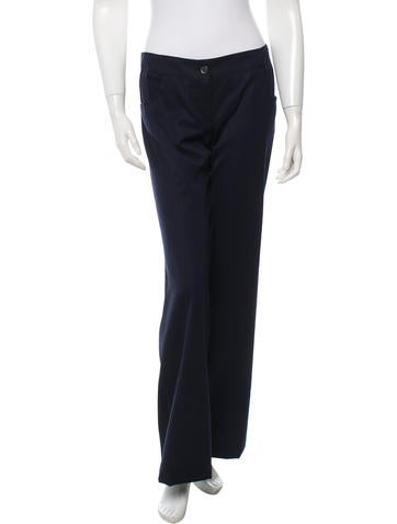 Chanel Wool Straight-Leg Pants None