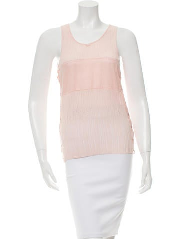 Chanel Lace-Up Sleeveless Top None