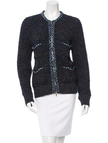 Chanel Spring 2015 Embellished Knit Jacket None