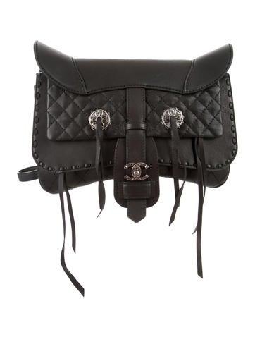 Paris-Dallas Fringe Saddle Bag