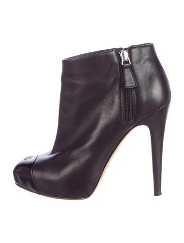 CC Cap-Toe Ankle Boots