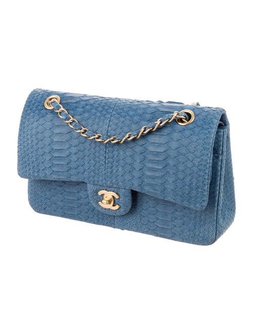 ff4ab696ae94c4 Chanel Python Classic Medium Double Flap Bag - Handbags - CHA120595 ...