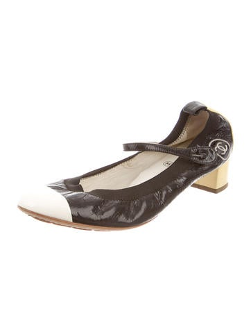chanel patent leather stretch spirit pumps shoes