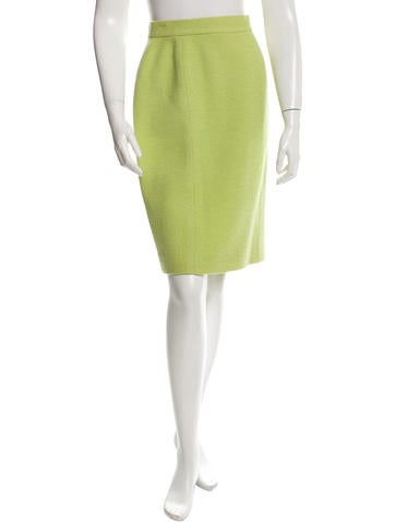 Chanel Wool Tweed Skirt None