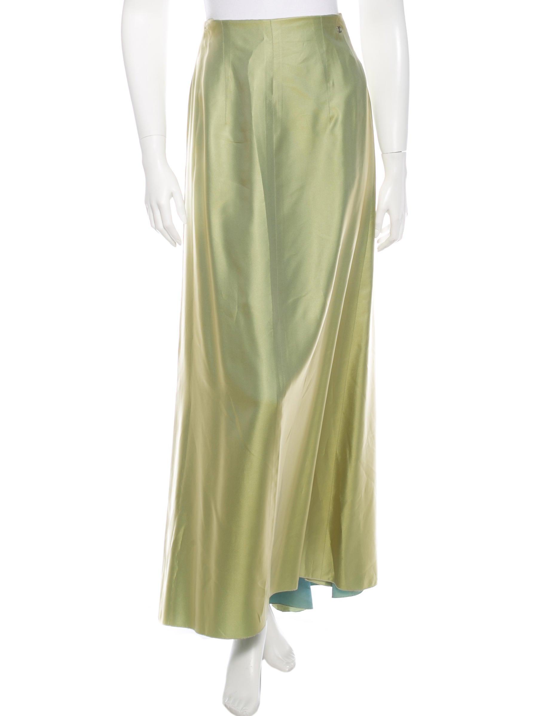 chanel silk blend midi skirt clothing cha121674 the