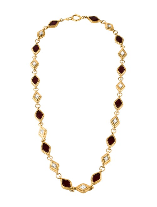 Chanel Gripoix Station Necklace Gold