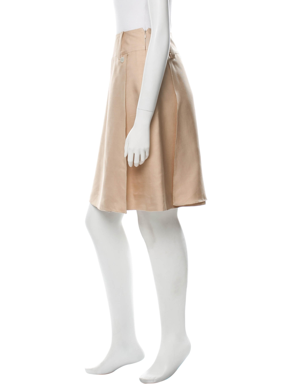 chanel silk a line skirt clothing cha122028 the realreal