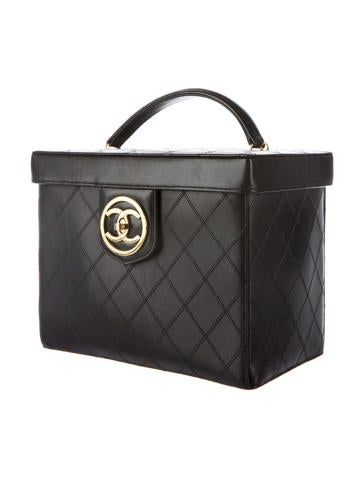 Calfskin Quilted Cosmetic Travel Box