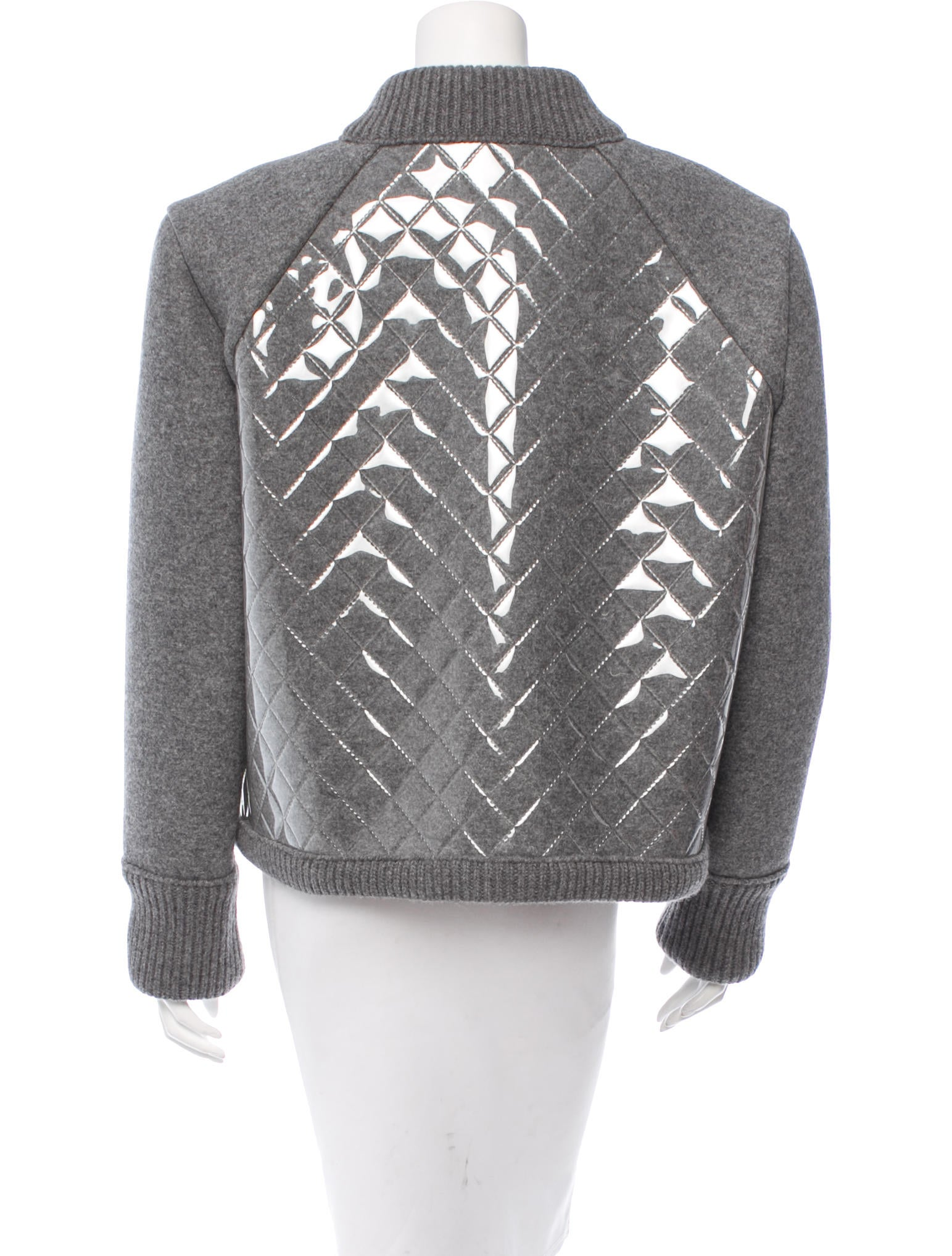 Chanel Quilted Wool Jacket W Tags Clothing Cha122154