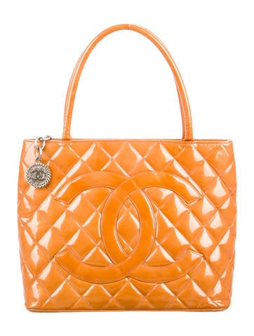 Patent Leather Medallion Tote