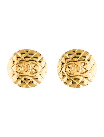 CC Quilted Clip-On Earrings