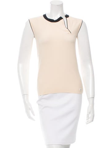 Chanel Sleeveless Wool Top None