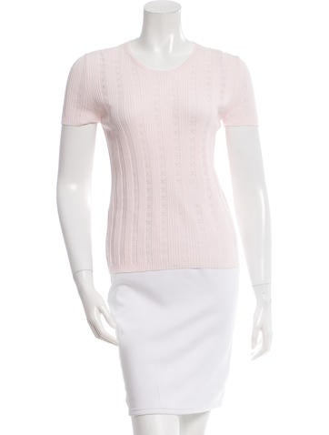 Chanel Perforated Rib Knit Top None