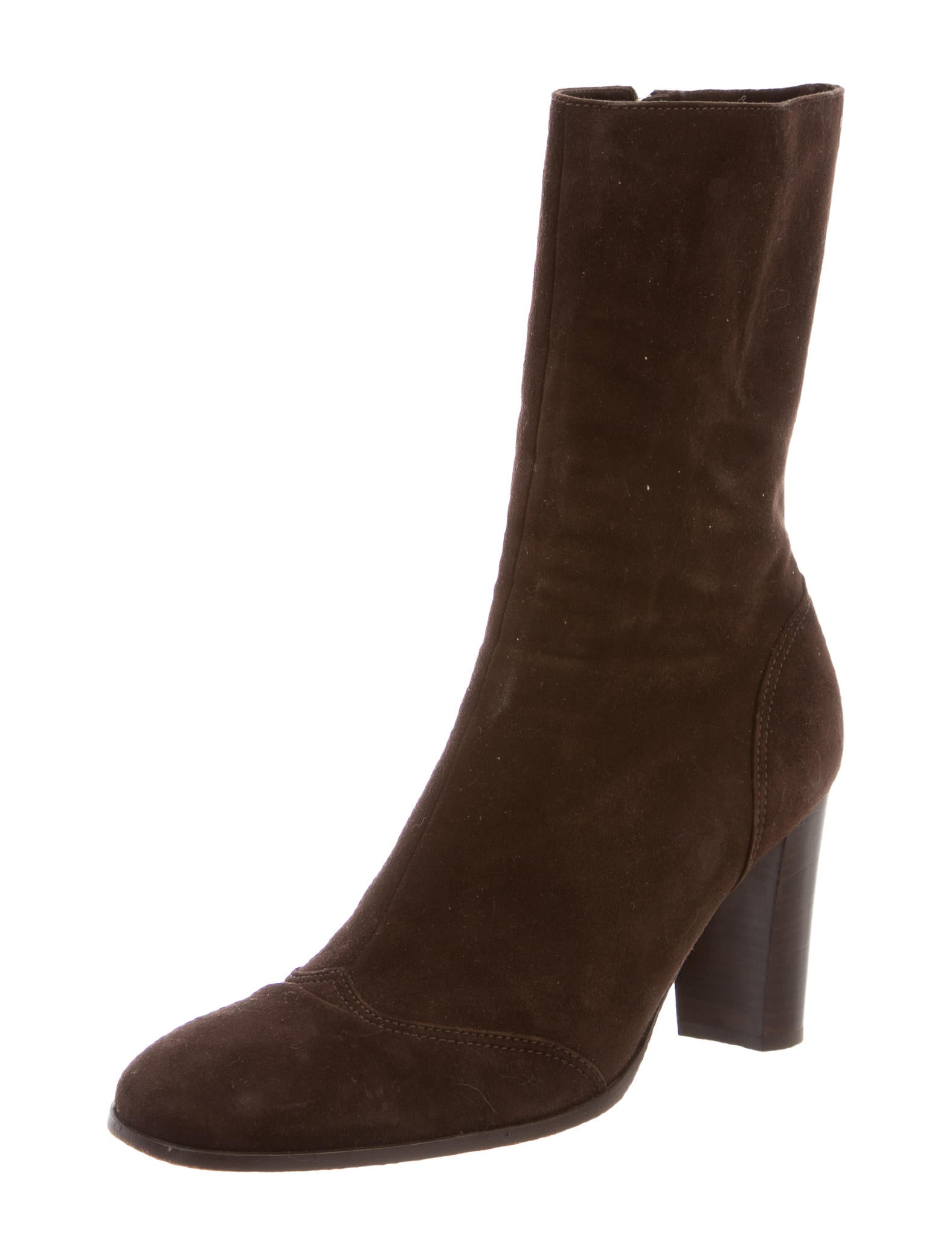 chanel suede toe ankle boots shoes cha124174