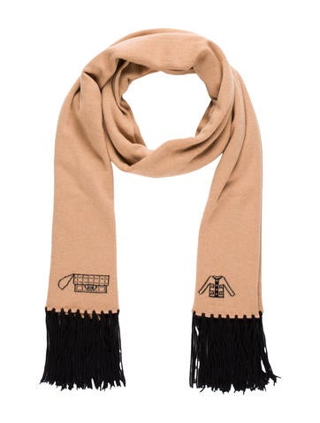 Chanel Embellished Knit Scarf None