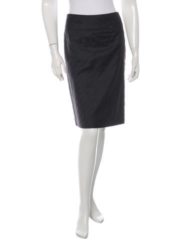 Chanel Wool Quilted Skirt None