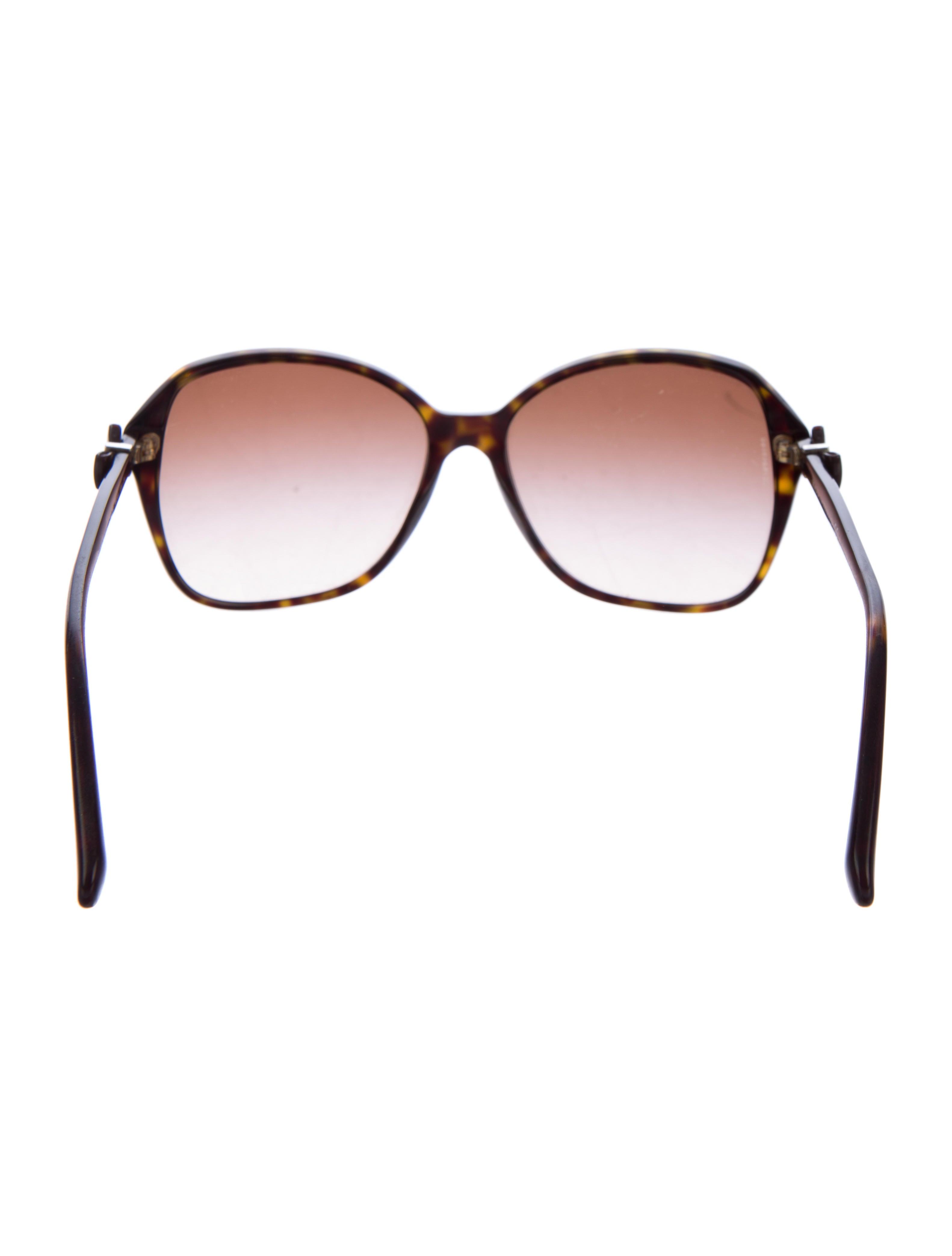 chanel bow tortoise sunglasses accessories cha125273