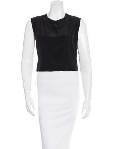 Chanel Silk Crop Top None