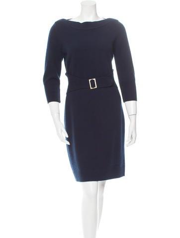 Chanel Wool-Blend Sweater Dress None