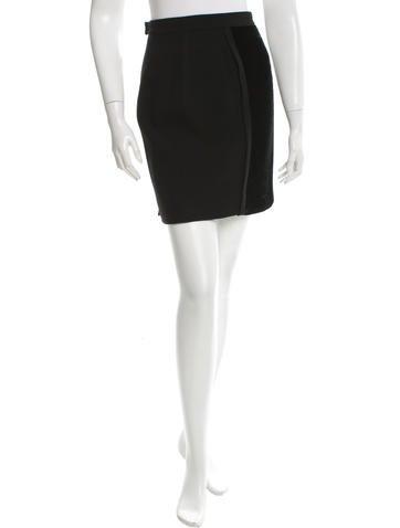 Chanel Mini Wool Skirt None