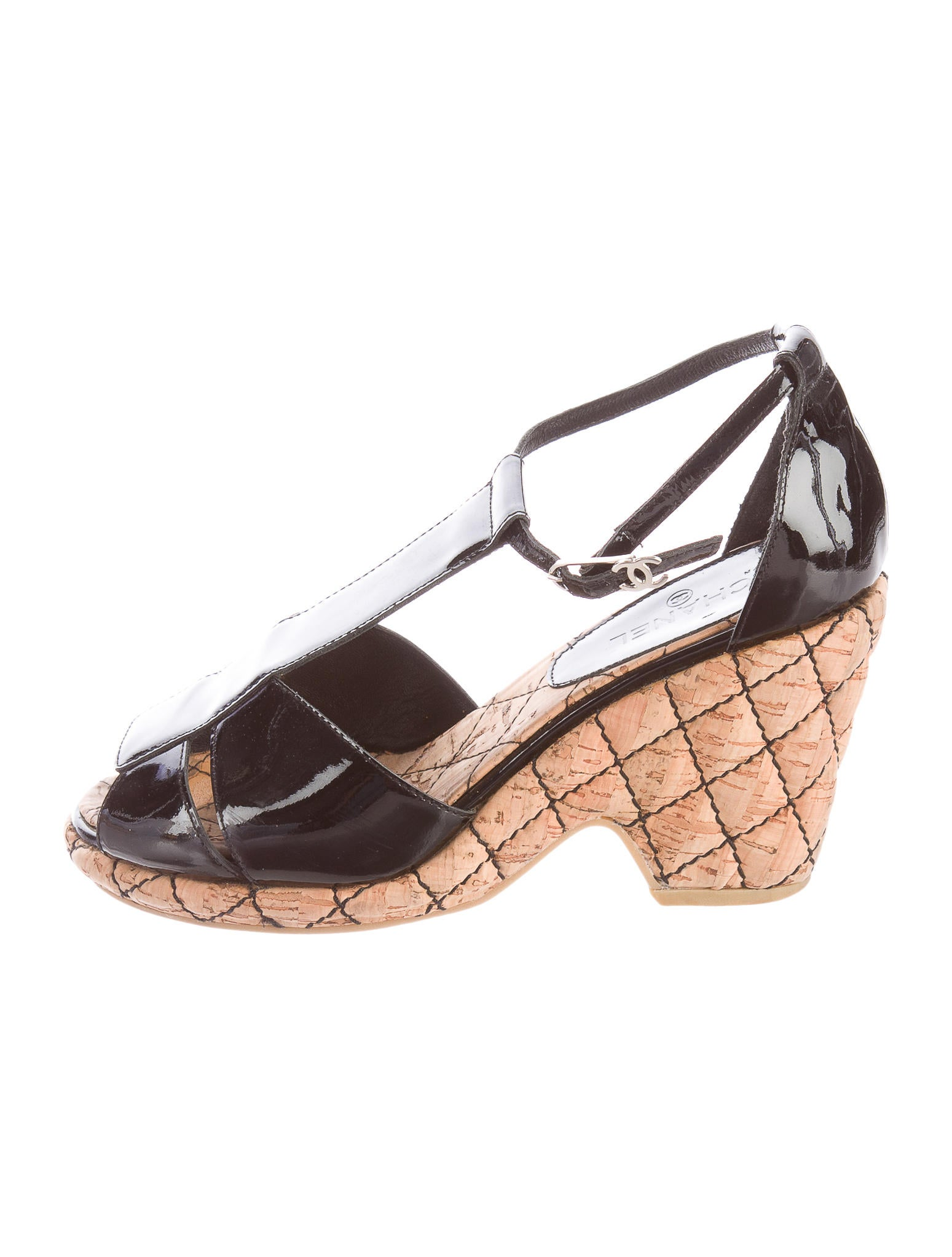 Chanel Quilted T-Strap Sandals - Shoes - CHA126685 | The RealReal