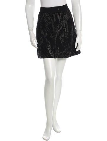 Chanel Printed Wool Mini Skirt None