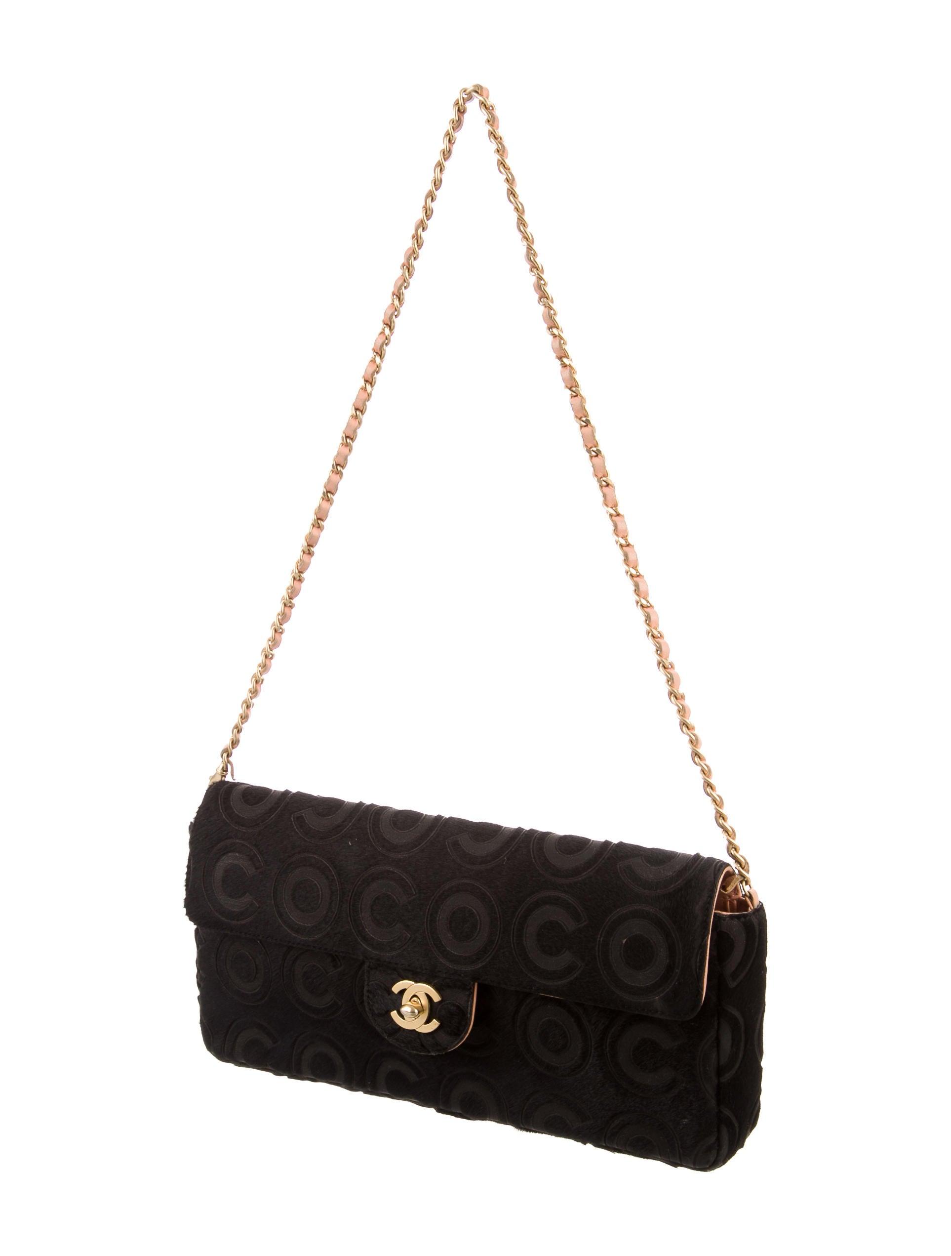 Chanel Coco Ponyhair E/W Flap Bag - Handbags - CHA127167 ...
