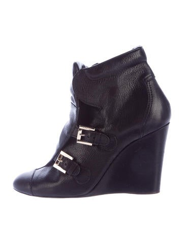 chanel wedge ankle boots shoes cha127451 the realreal