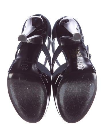 Cutout Ankle Strap Sandals
