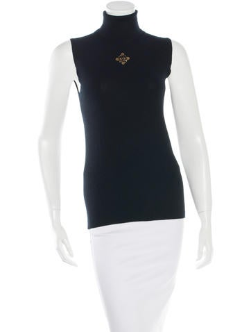 Chanel Cashmere Embellished Top None