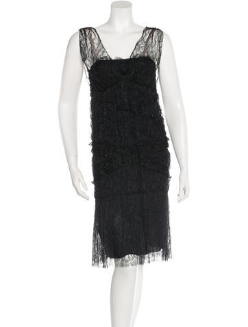 Chanel Metallic Lace Dress w/ Tags None