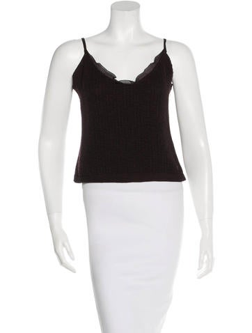 Chanel Sleeveless Wool Top None