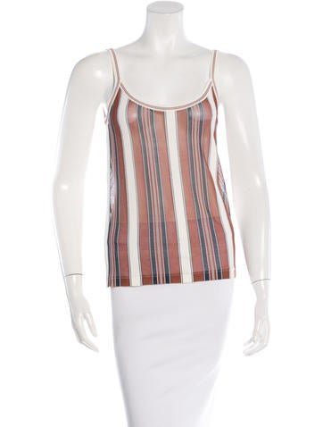 Chanel Sheer Striped Top None