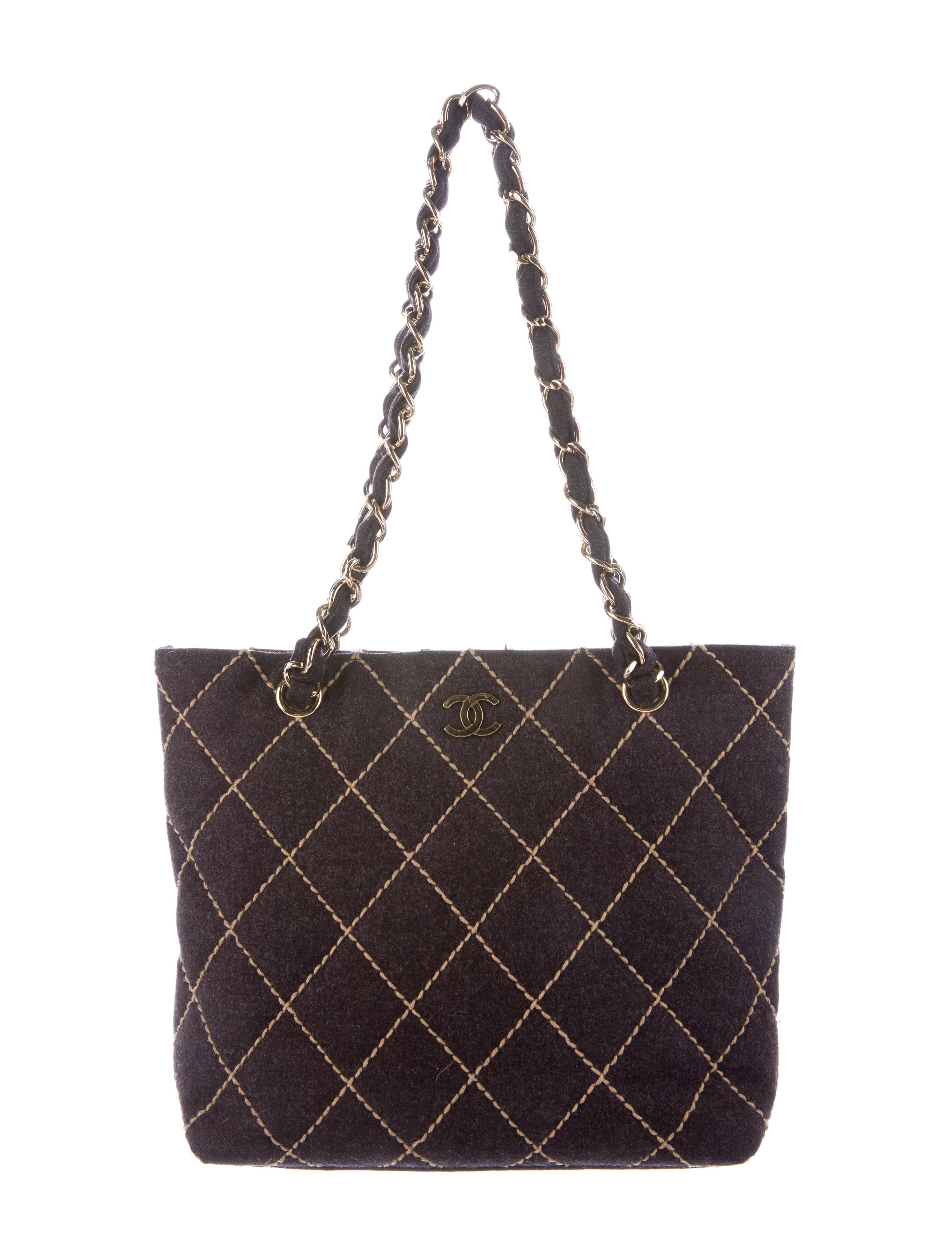 d24a68898811 Chanel Wool Surpique Tote - Handbags - CHA129617
