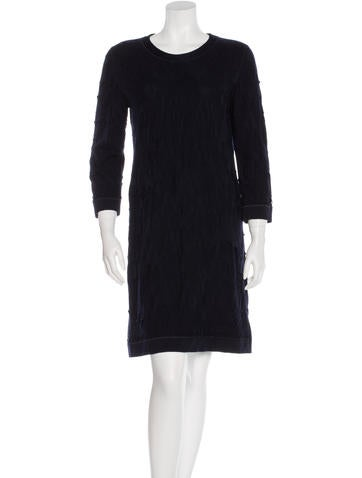 Chanel Distressed Wool Dress None