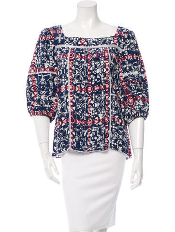 Chanel CC Print Silk Top None