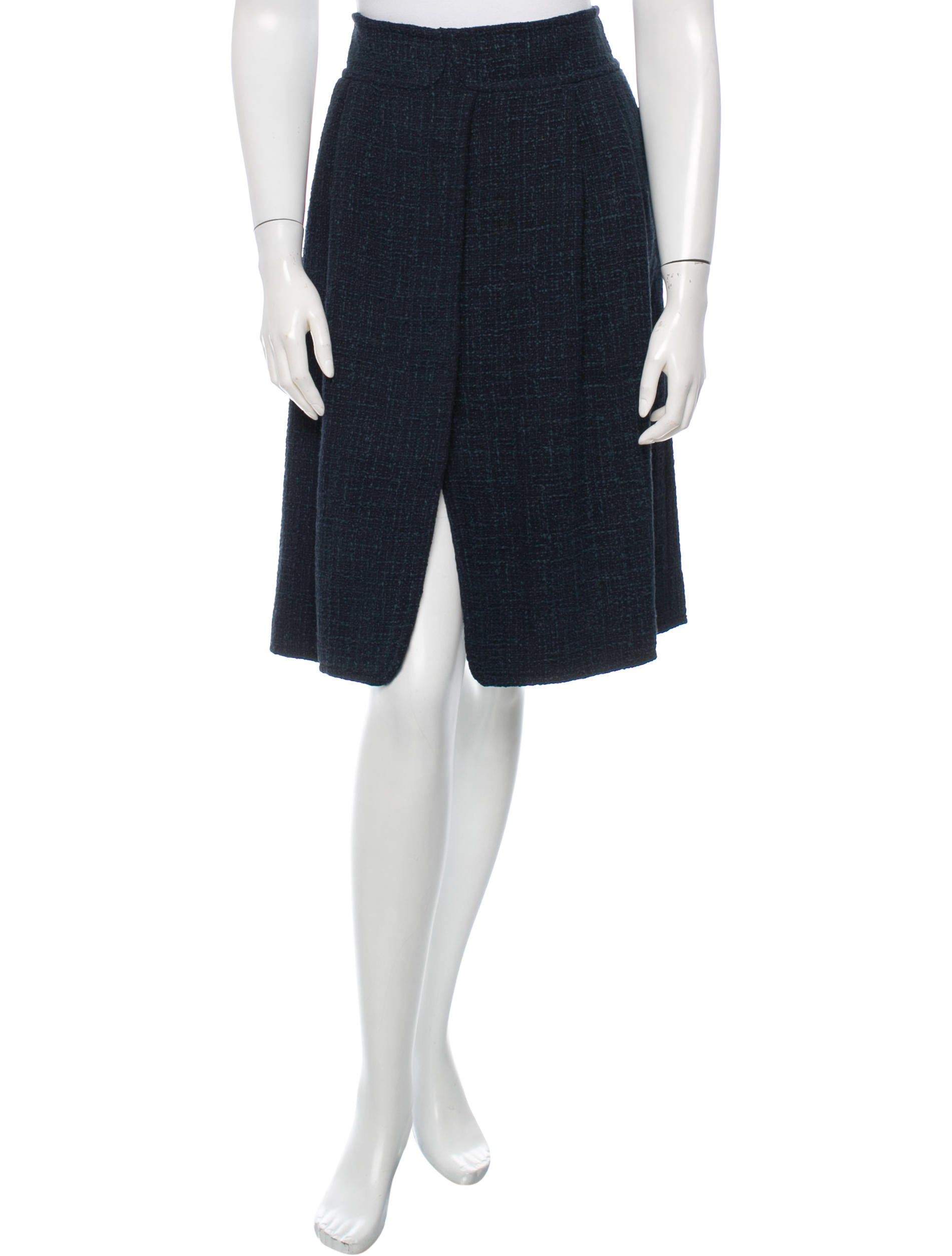 chanel a line tweed skirt clothing cha130139 the
