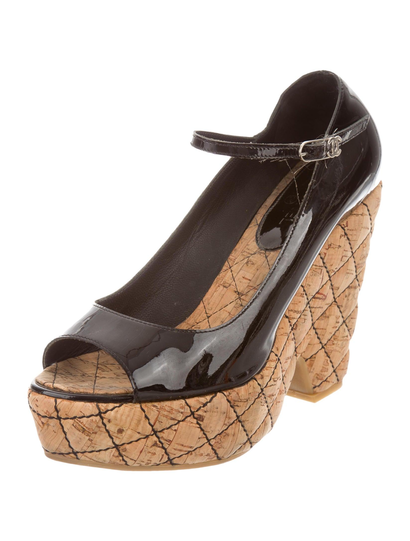 chanel peep toe platform pumps shoes cha130565 the