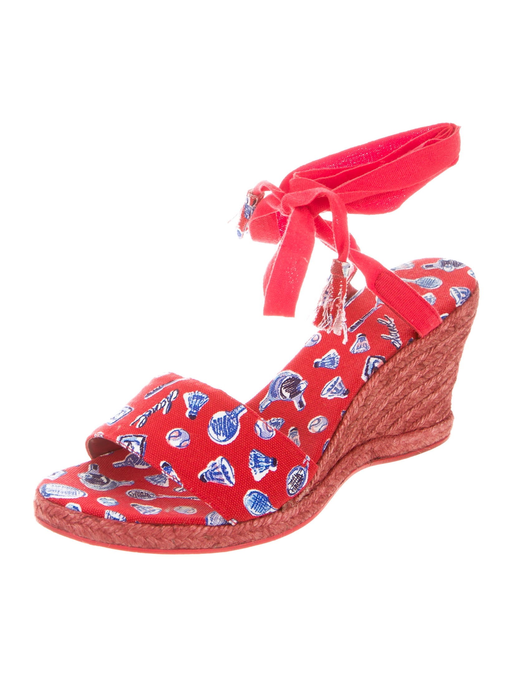 chanel canvas espadrille wedges shoes cha130657 the