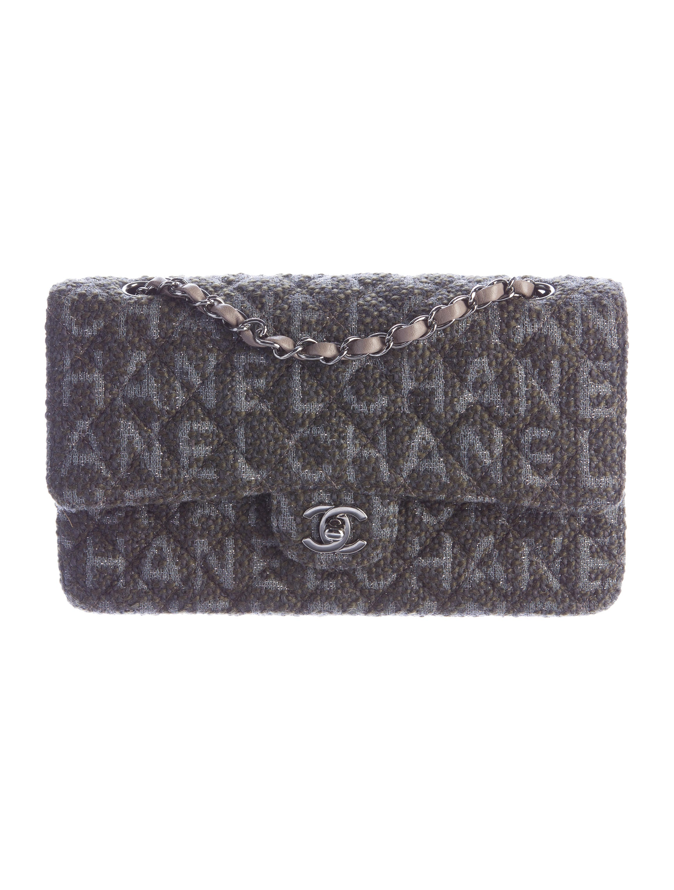 chanel medium boucl 233 flap bag handbags