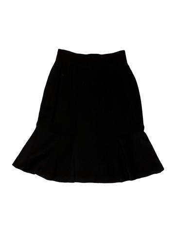 Wool Flounce Hem Skirt