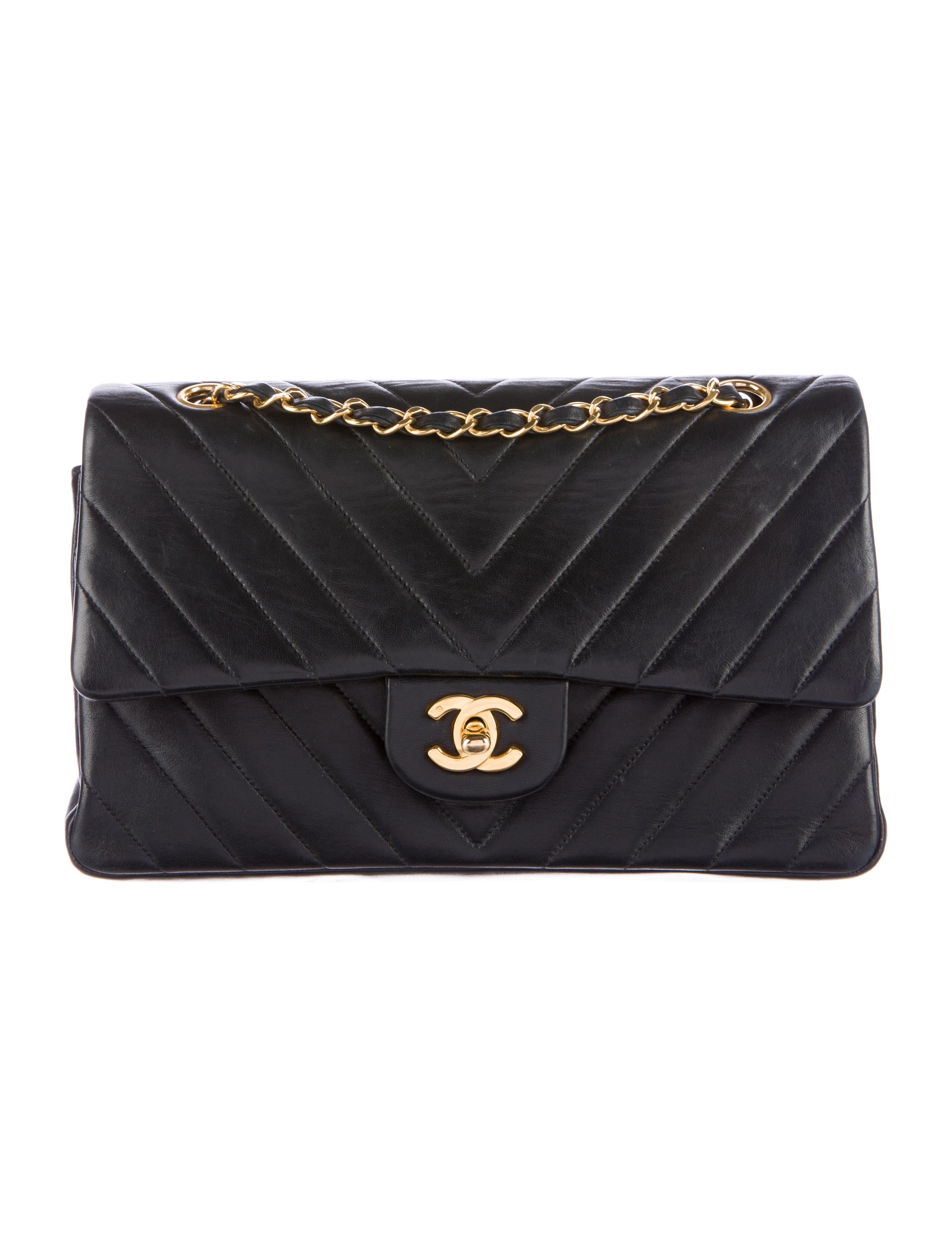 b0b681fff2c7 Chanel Chevron Medium Classic Double Flap Bag - Handbags - CHA131201 ...