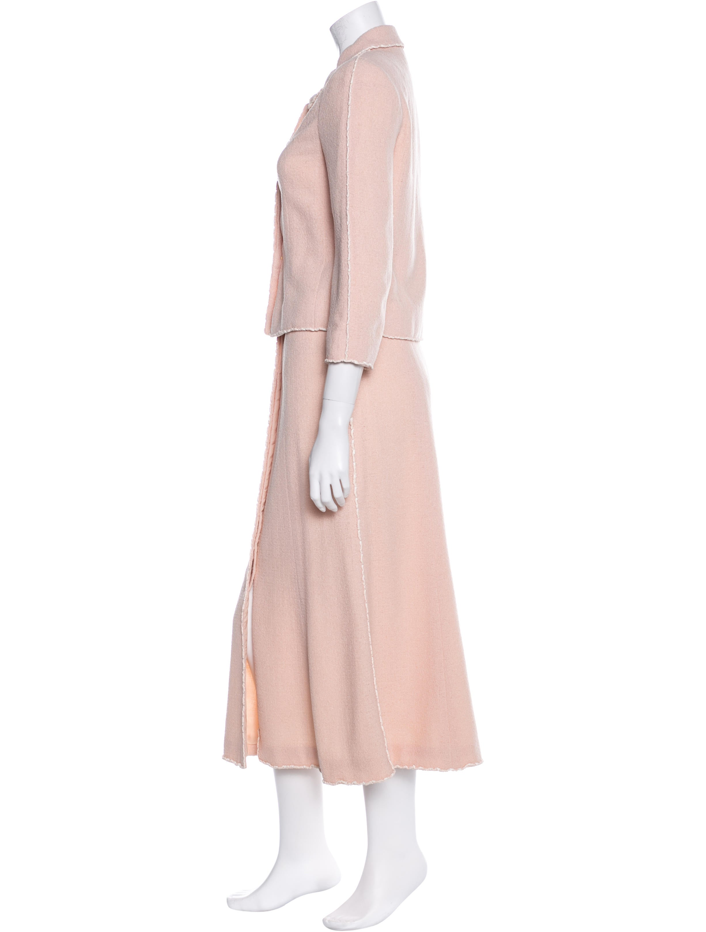 chanel wool midi skirt suit clothing cha131360 the