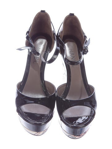 Patent Leather Platform Wedges