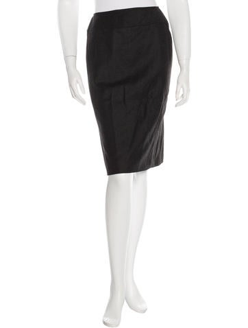 Chanel Wool Seamed Skirt None