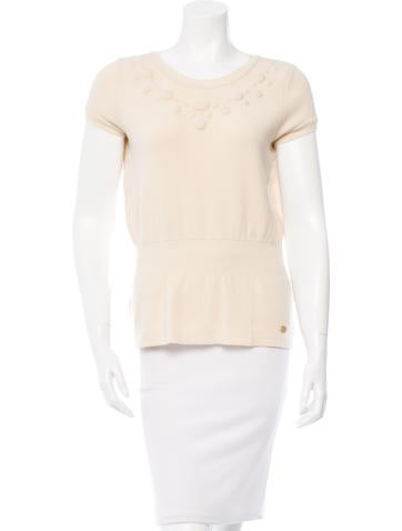 Chanel Cinched Wool Top None