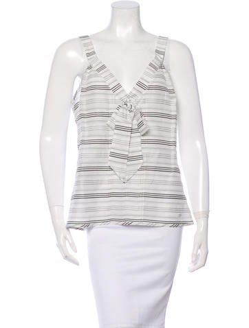 Chanel Striped Sleeveless Top w/ Tags None