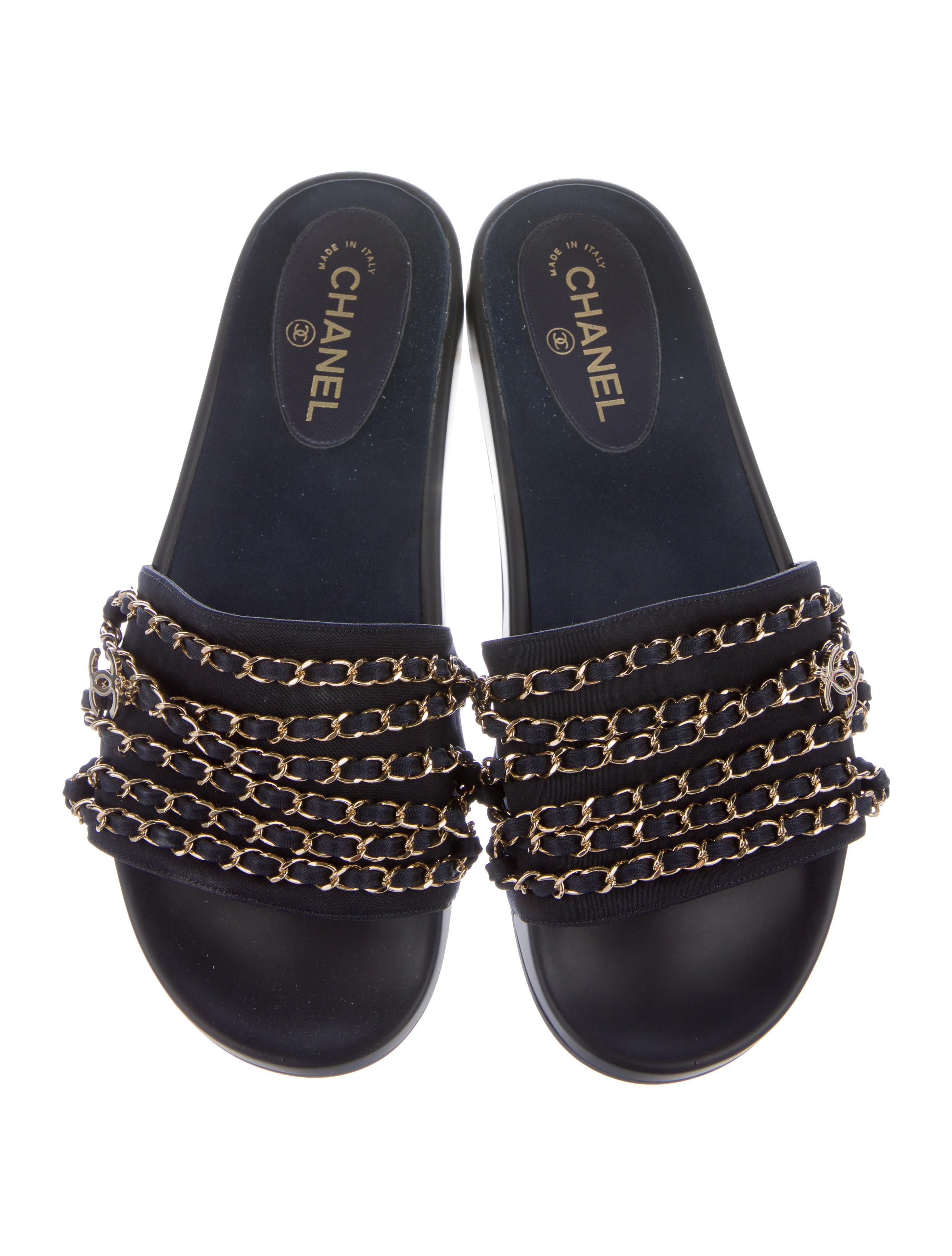 Chanel 2017 Tropiconic Slide Sandals Shoes CHA