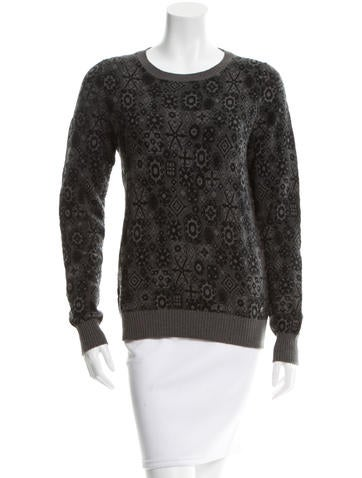 Chanel Patterned Cashmere Sweater None